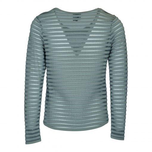 T-shirt med striber i mesh bagside grey
