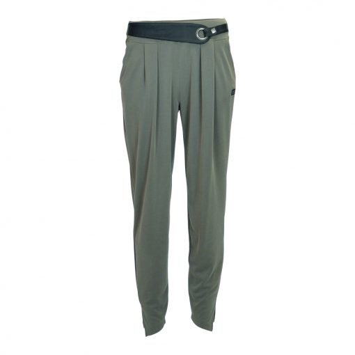 pants with belt in soft material with wide elasticated waistband e-avantgarde