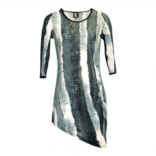 Tunic with 3/4 sleeves, dress, mesh e-avantgarde