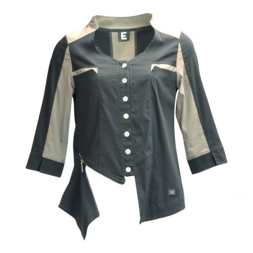 Jacket in stretch with zipper e-avantgarde