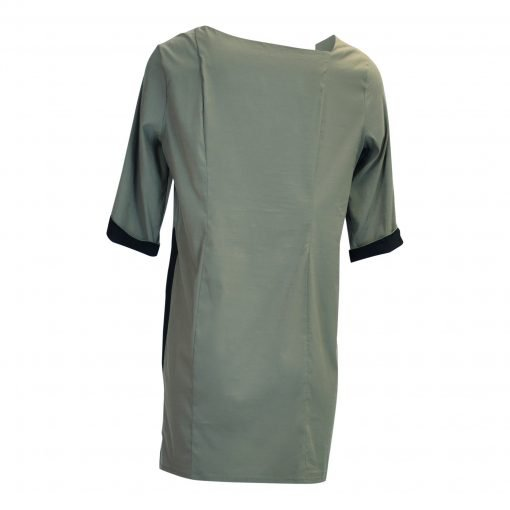 Tunic in mesh viscose with three-quarter shoulder sleeves