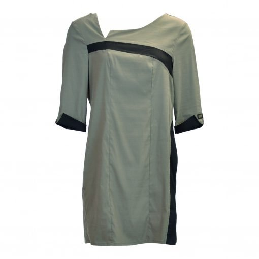 Tunic in mesh viscose with three-quarter shoulder sleeves, e-avantgarde