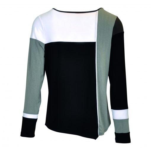 T-Shirt multi farvet bagside black