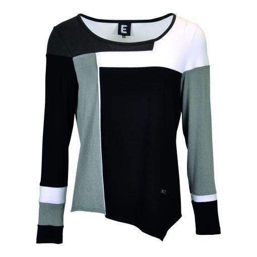 T-Shirt multi farvet forside black