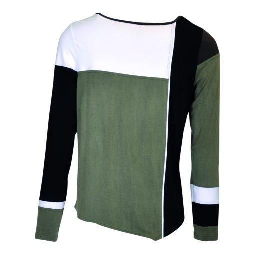 T-Shirt multi farvet bagside green