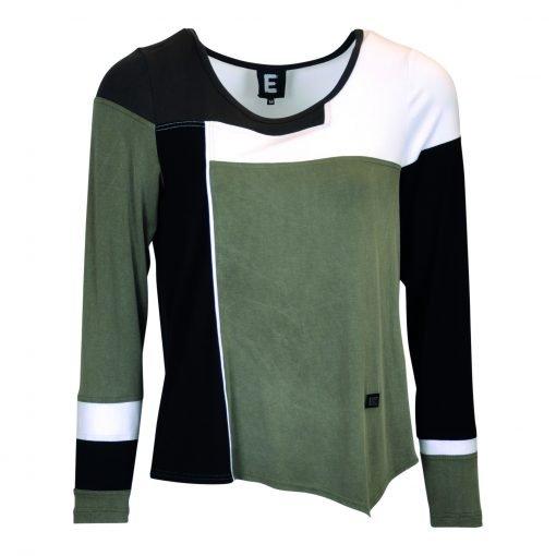T-Shirt multi farvet forside green