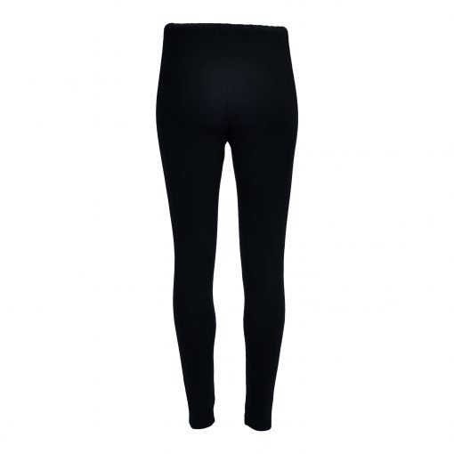 Leggings in stretch viscose jersey with stripe rib