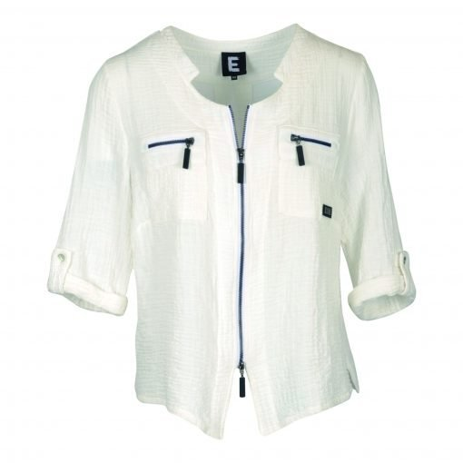 Jacket in thin lightweight stretch cotton e-avantgarde