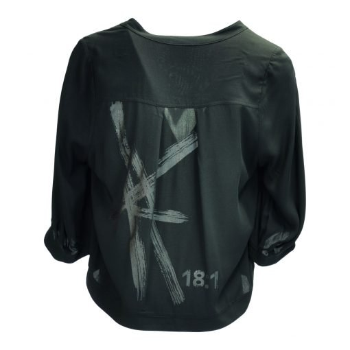 Skjorte i viskose bagside black