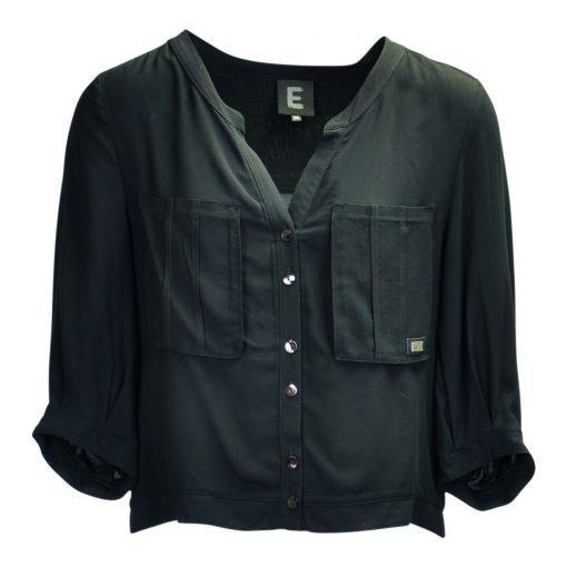 Skjorte i viskose forside black
