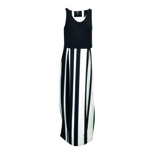 Dress black white stripe e-avantgarde