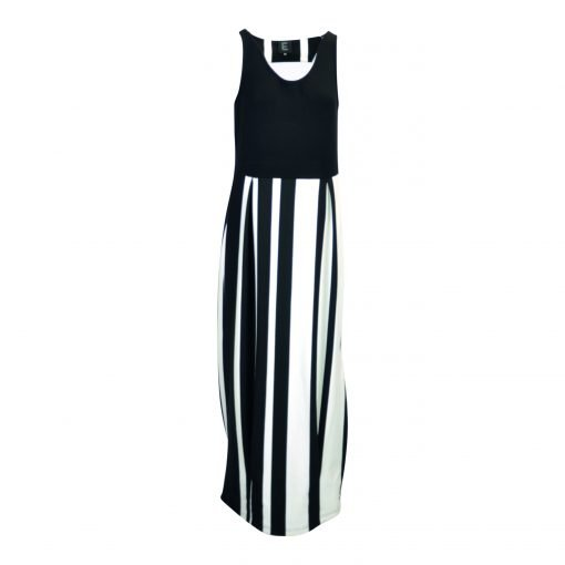 Lang kjole i blandet viskose forside white