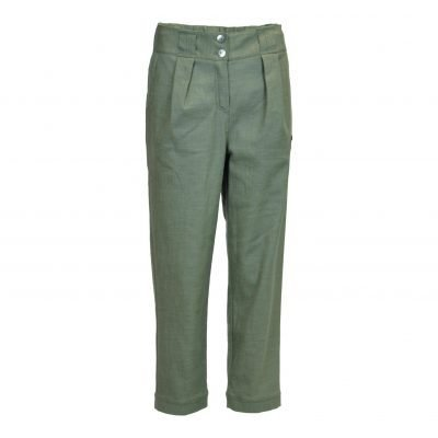 Pants in blend cotton with belt loops and 2 pockets at the front e-avantgarde