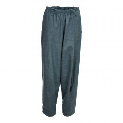 Baggy pants in stretch cotton/linen e-avantgarde