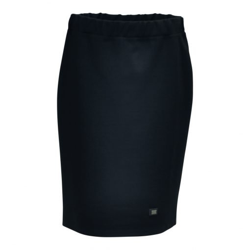 Kneelong skirt in a stretch blend viscose quality with wide elasticated waistband