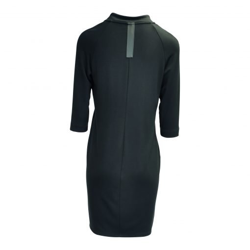 Dress with three quarter sleeve, round neck, knee length e-avantgarde