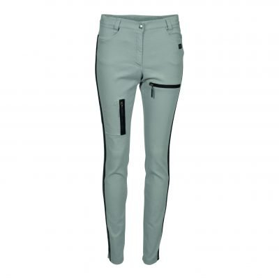 High-Waist Stretch-denim pants