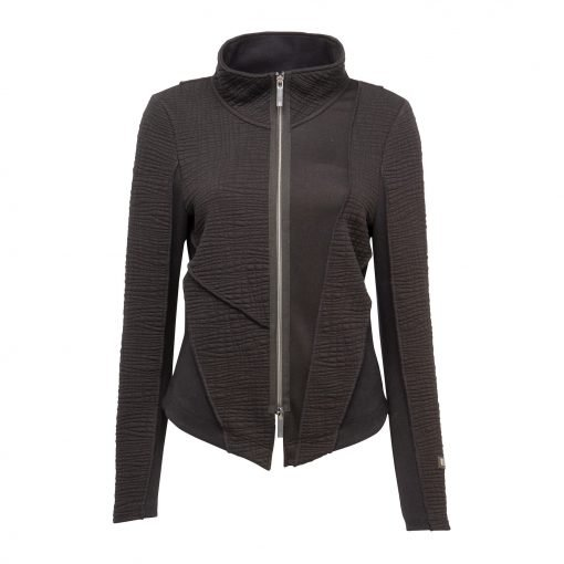 Woman Raw Jacket in Black front