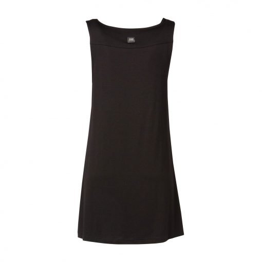 Woman Long Top in Viscose back black