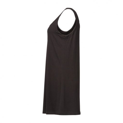 Woman Long Top in Viscose side black