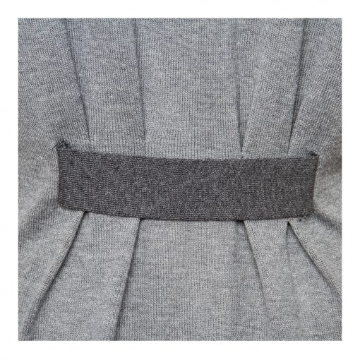 Woman Knit Blouse with Pleats details details grey
