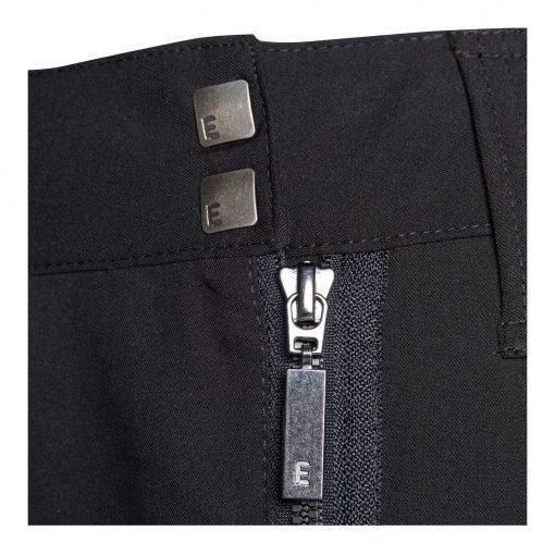 Woman Fashion Pants with Unique Closure details black