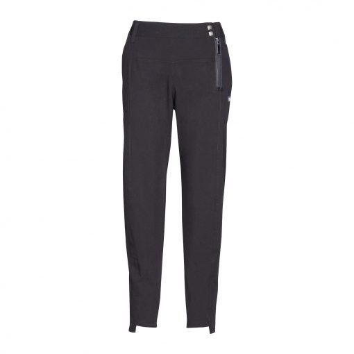 Woman Fashion Pants with Unique Closure front black