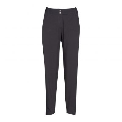 Woman Pants with Saddleback front black