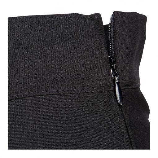 Kvinde Baggy Nederdel med fast talje detalje black