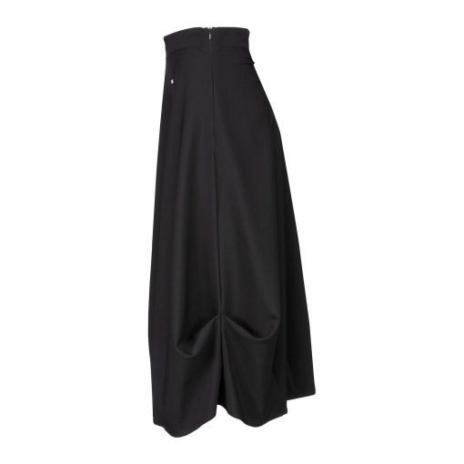 Woman Baggy Skirt with a Fixed Waist side black