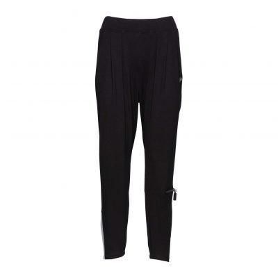 Kvinde Viskose Bukser med Trendy detaljer forside black grey