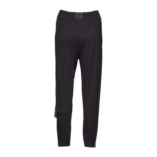 Woman Viscose Pants with trendy details back black black