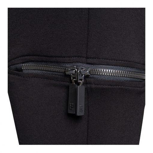 Kvinde Viskose Bukser med Trendy detaljer lynlås black black