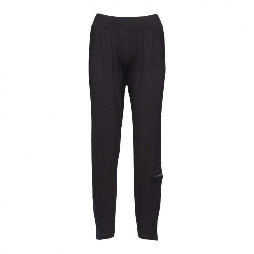 Woman Viscose Pants with trendy details front black black