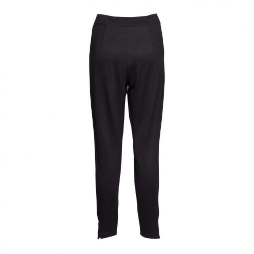 Woman Pants with Sporty Strips back black