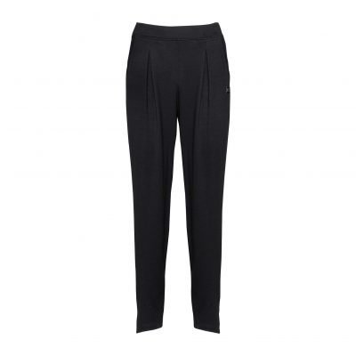 Woman Pants with Sporty Strips front black