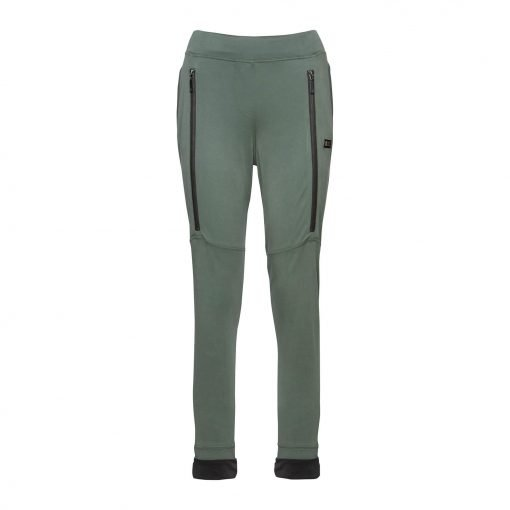 Woman Sporty Pants with Two Zippers front army
