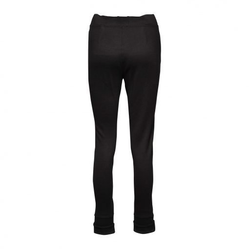 Woman Sporty Pants with Two Zippers back black
