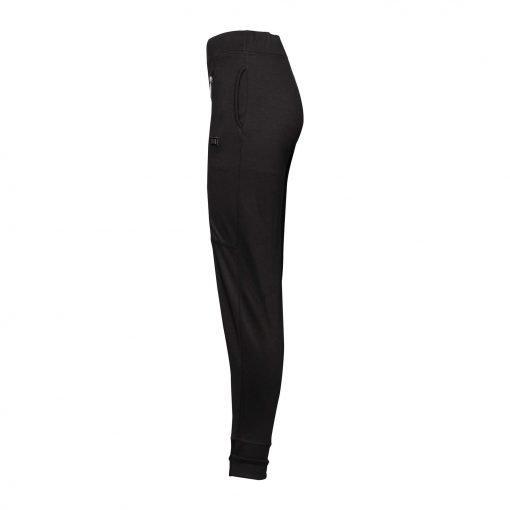 Kvinde Sporty Bukser med to Lynlåse side black