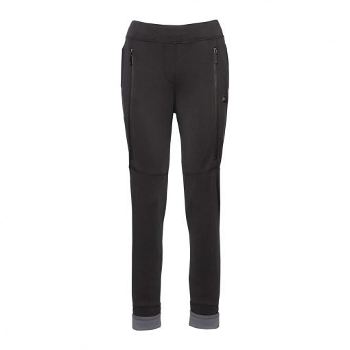Woman Sporty Pants with Two Zippers front dark