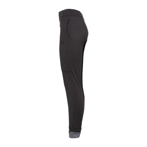 Woman Sporty Pants with Two Zippers side dark