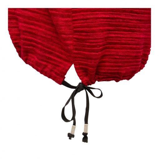 Kvinde Oversize Lang Bluse med Elastik Snor detalje ruby