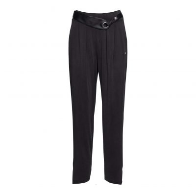 Woman Sporty Casual Pants front black