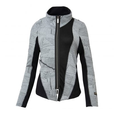 Woman Raw Jacket front grey