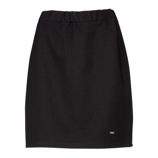 Woman Over Knee Pencil Skirt front black