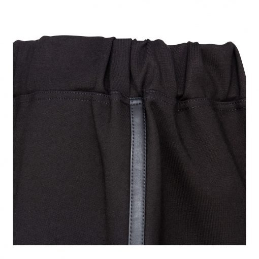 Woman Lower Knee Pencil Skirt details black