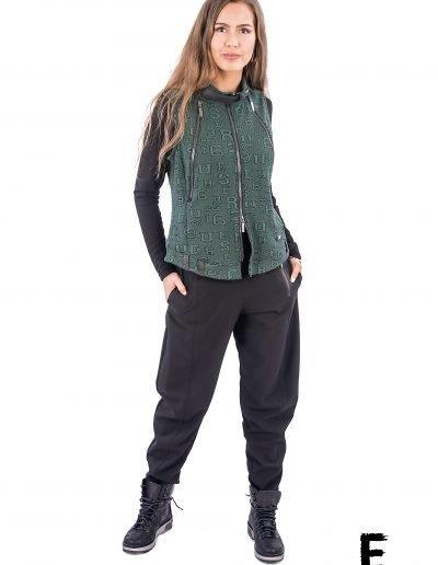 Woman raw west with zipper e avantgarde