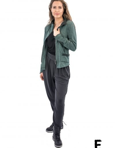 Jacket raw zipper womanse avantgarde