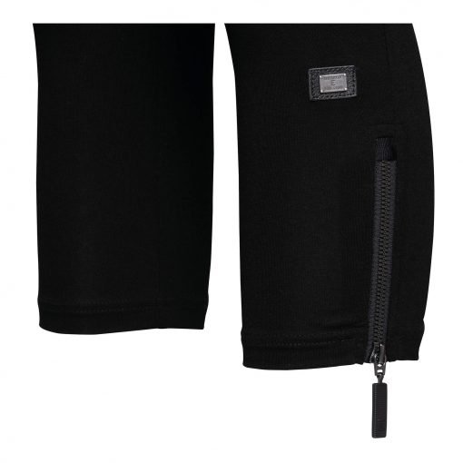 Woman Leggings 3/4 with zippers details black