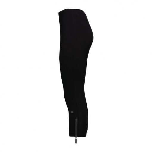 Woman Leggings 3/4 with zippers side black